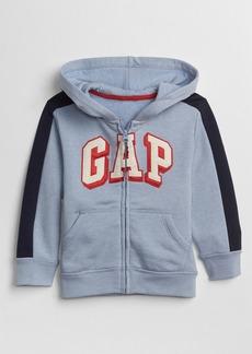 Gap Logo Zip Hoodie Sweatshirt in Fleece