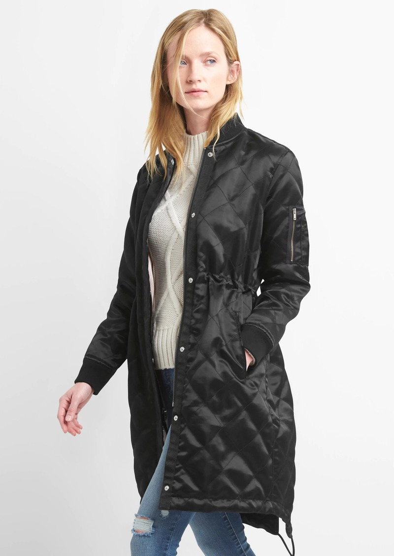 Gap Long Quilted Bomber Now 8997