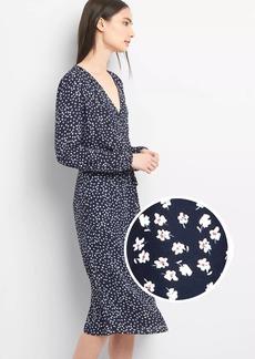 Gap Long Sleeve Floral Midi Dress