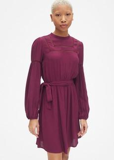 Gap Long Sleeve Lace-Trim Dress