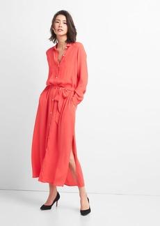 Gap Long Sleeve Maxi Shirt Dress