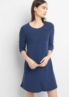 Gap Long Sleeve Plaited Swing Dress