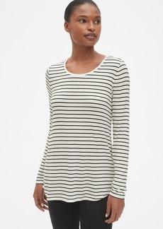 Gap Long Sleeve Stripe T-Shirt in Luxe Jersey