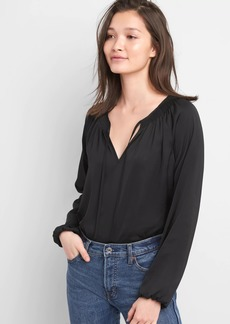Gap Long Sleeve Tie-Neck Blouse