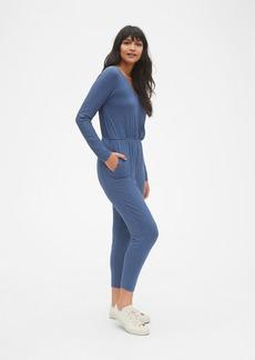 Gap Long Sleeve Wrap Jumpsuit