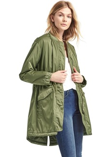 Gap Long utility bomber parka