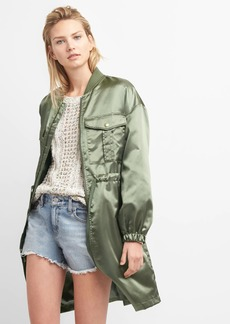 Gap Longline Satin Utility Jacket