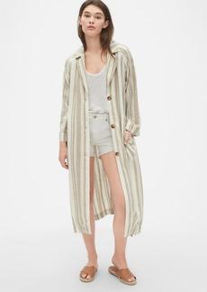 Gap Longline Topper Jacket in Linen-Cotton