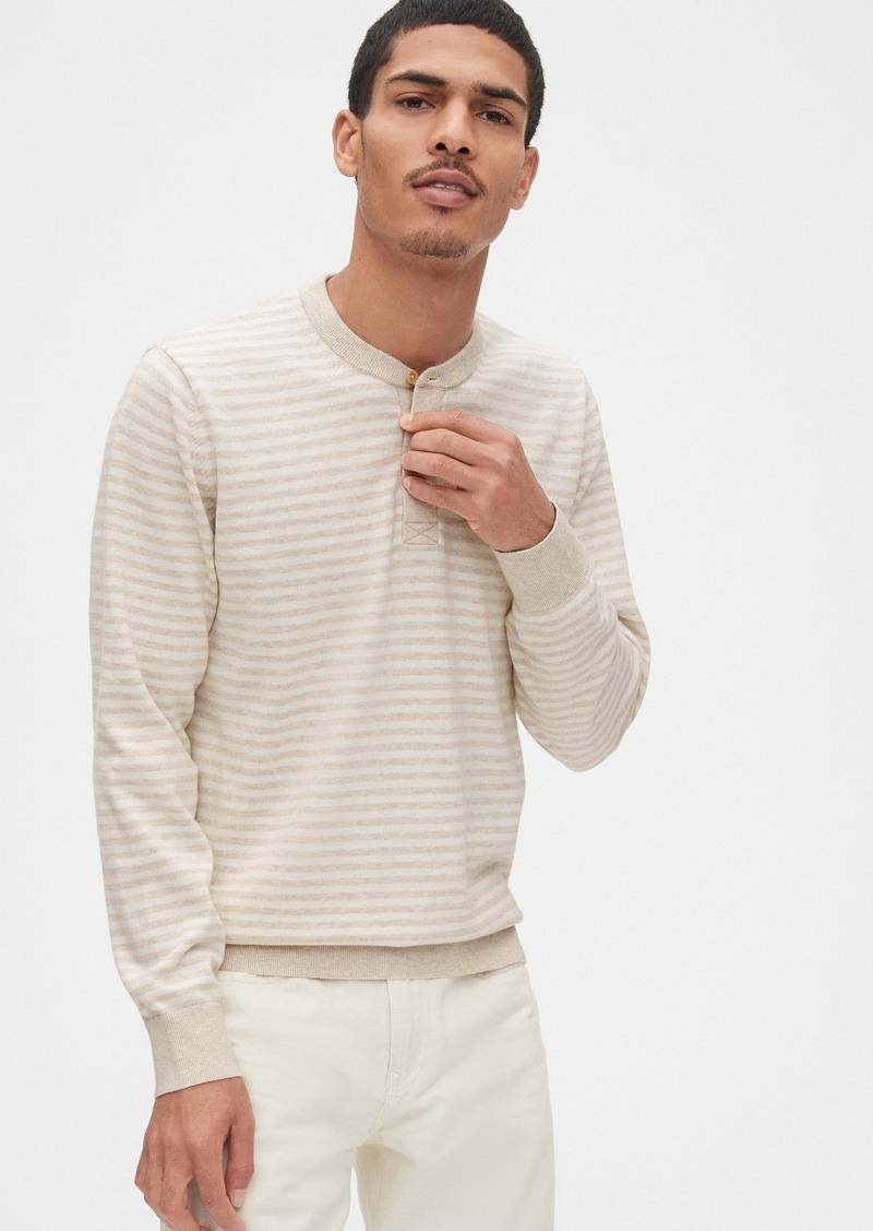 Gap Mainstay Henley Sweater