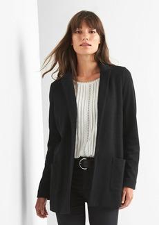 Marled double-knit blazer