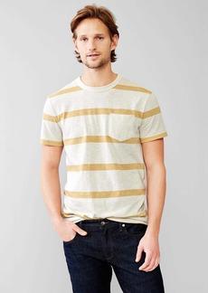 Gap Marled single stripe pocket t-shirt