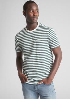 Gap Marled Stripe Pocket T-Shirt
