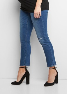 Gap Maternity full panel frayed best girlfriend jeans