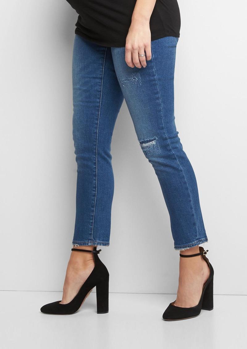 c0d6be92c83aa SALE! Gap Maternity full panel frayed best girlfriend jeans