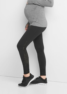 Maternity GapFit Blackout Technology gFast full panel mesh-side leggings