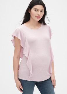 Gap Maternity Softspun Flutter Sleeve Top