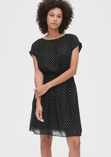 Gap Metallic Clip-Dot Skater Dress