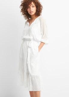 Gap Metallic Print Midi Dress