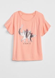 Gap Metallic Sequin Flutter T-Shirt