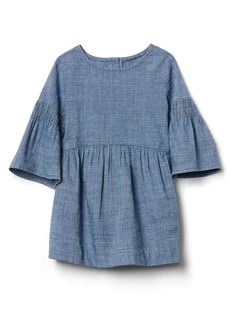Gap Metallic stripe denim dress