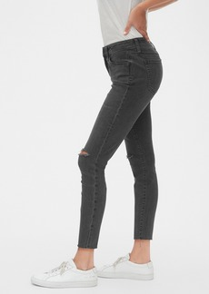 Gap Mid Rise Curvy Distressed True Skinny Ankle Jeans