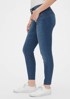 Gap Mid Rise Curvy True Skinny Ankle Jeans with Raw Hem