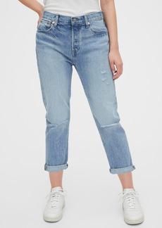 Gap Mid Rise Destructed Boyfriend Jeans