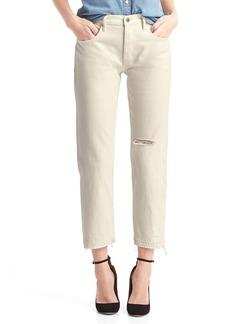Gap Mid rise destructed vintage straight jeans