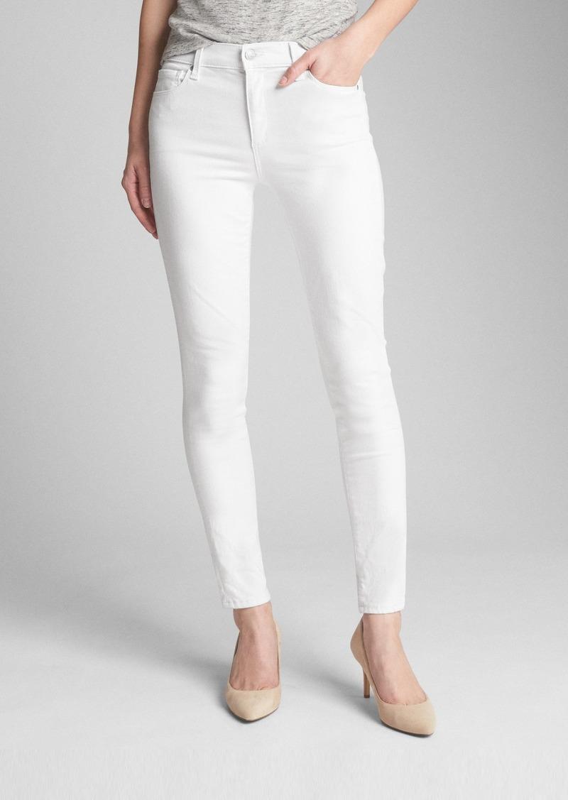 Gap Mid Rise EverWhite True Skinny Jeans in Sculpt