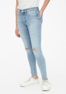 Gap Mid Rise Favorite Jeggings with Distressed Detail