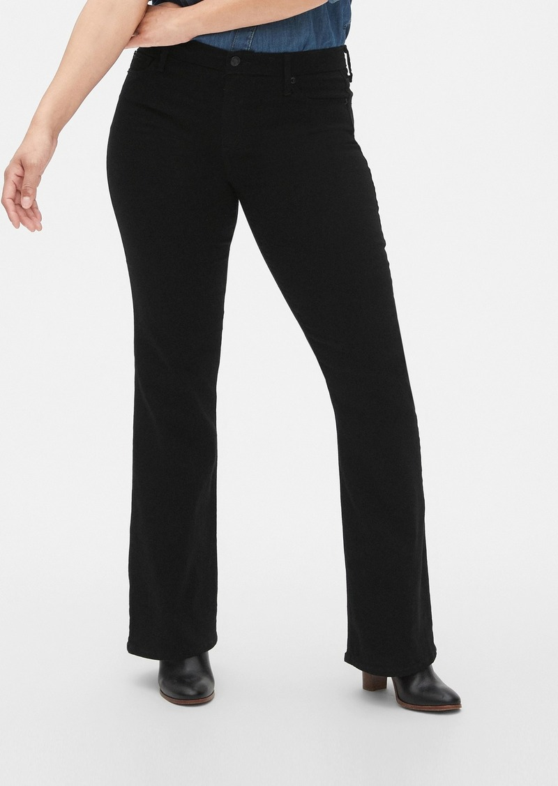 Mid Rise Perfect Boot Jeans in Everblack
