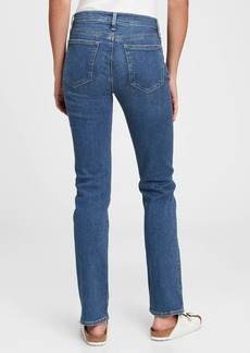 Gap Mid Rise Classic Straight Jeans With Washwell&#153