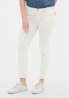 Gap Mid Rise Stripe True Skinny Ankle Jeans