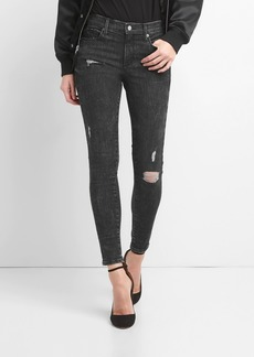 Gap Mid Rise True Skinny Jeans in Sculpt with Destruction