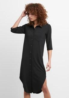 Gap Midi Knit Shirtdress