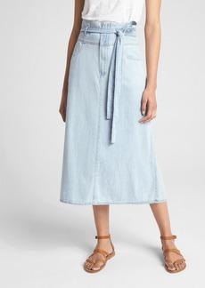 Gap Denim Paper-Bag Waist Midi Skirt