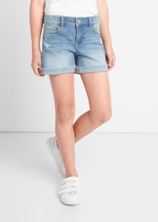 Gap Midi Shorts in Distruction with High Stretch