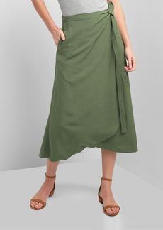 Gap Midi wrap skirt.
