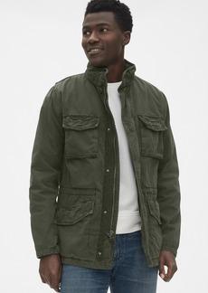 Gap Military Jacket with Hidden Hood