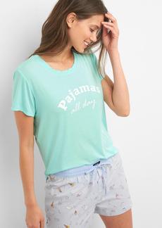 Gap Mix and match short sleeve sleep shirt