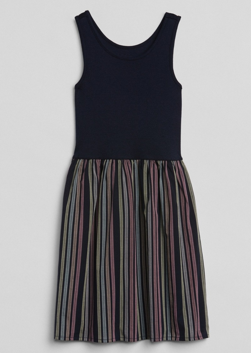 Gap Mix-Fabric Tank Dress