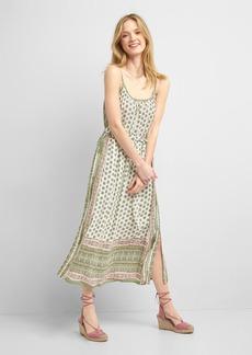 Mix-print sleeveless maxi dress