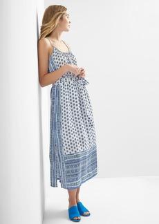 Gap Mix-print sleeveless maxi dress