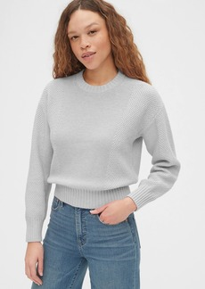 Gap Mix-Stitch Crewneck Sweater