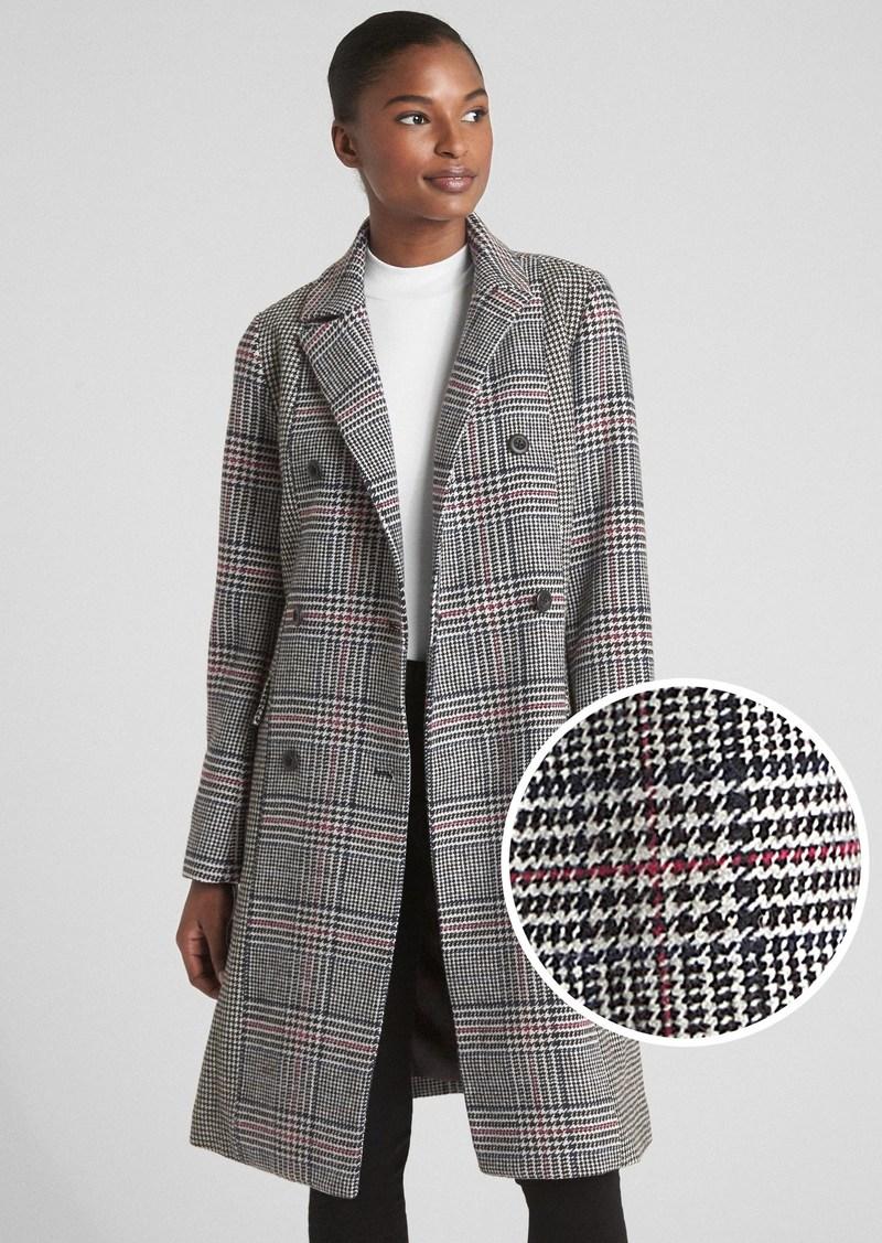 Gap Mixed Plaid Coat