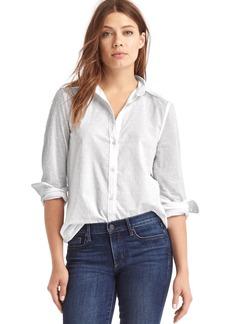 Gap New fitted boyfriend swiss dot shirt
