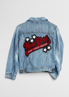 Gap New York Logo Denim Jacket