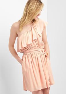 One-shoulder tie dress