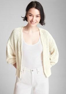 Gap Open-Front Balloon Sleeve Cardigan Sweater