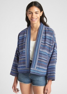 Gap Open-Front Pattern Jacket